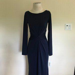 WHITE by Vera Wang Long Sleeve Jersey Dress 4